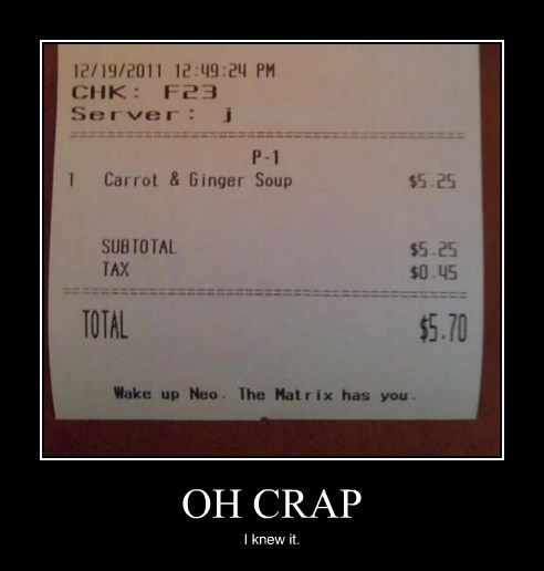 matrix neo funny receipt