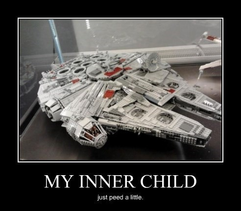 lego inner child awesome funny millennium falcon
