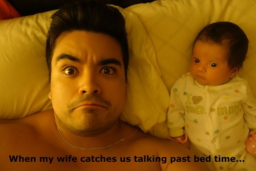 caught baby bed parenting dad - 8421015040