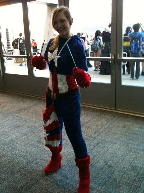 cosplay,knitting,captain america