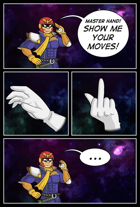 show me your moves master hand captain falcon - 8421202432