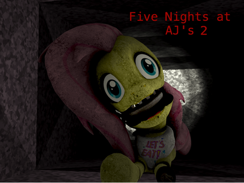 spoopy five night at freddy's fluttershy - 8421328640