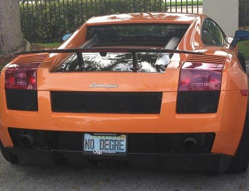 degree fancy cars lamborghini funny g rated School of FAIL - 8421429248