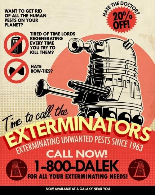Exterminate,puns,daleks