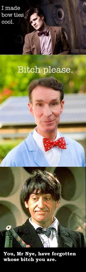 2nd doctor,classic who,bill nye,bowtie