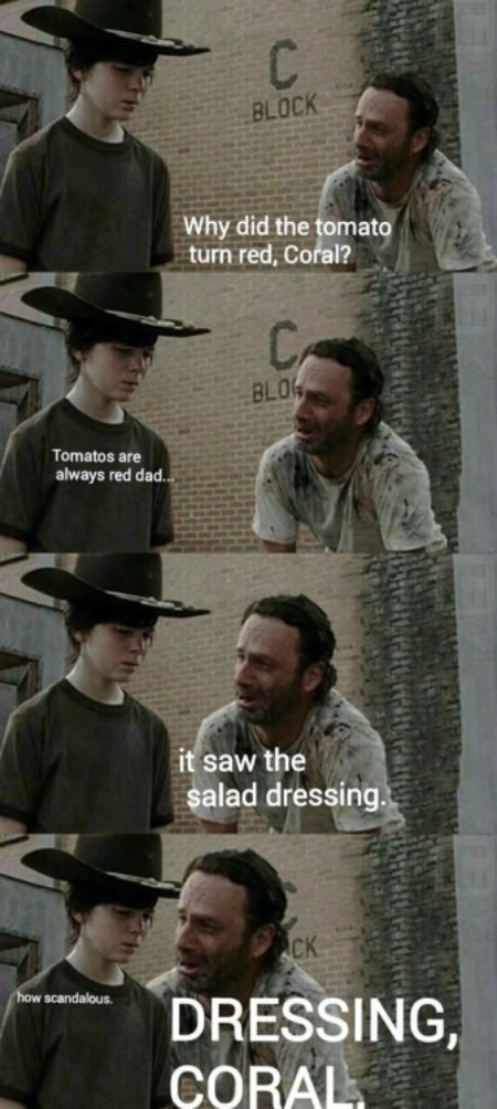 Walking Dad Jokes Rick Grimes carl grimes - 8421742080