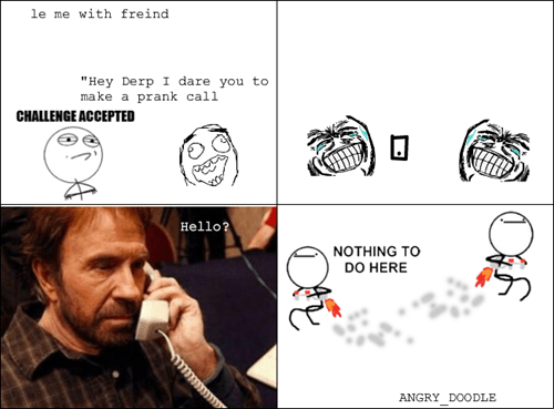 nothing to do here prank chuck norris