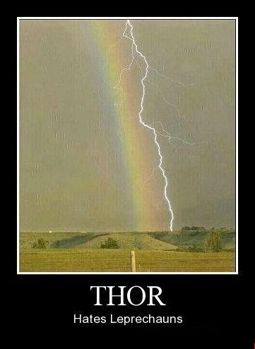 Thor leprechauns funny rainbow - 8421826048