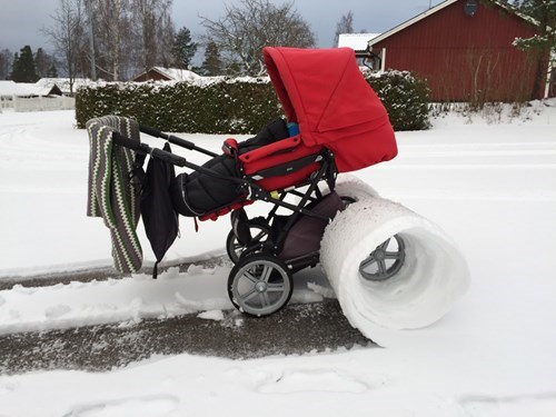 kids snow parenting stroller winter - 8421829632