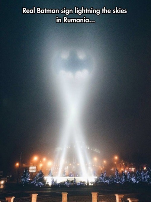 IRL,batman,Bat signal