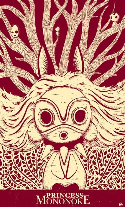 anime Fan Art studio ghibli princess mononoke - 8421883136