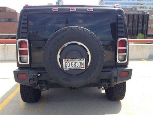 go green,hummer,license plates