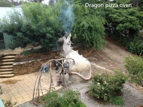 dragon,pizza,design,oven