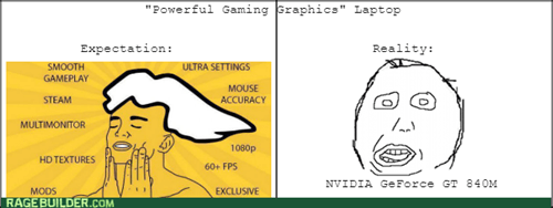 expectations vs reality computer laptop video games - 8422108672