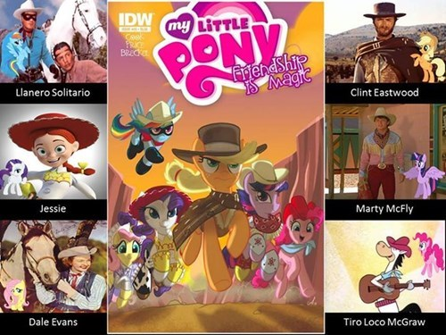 Cowboys comics westerns MLP dress up - 8422240256