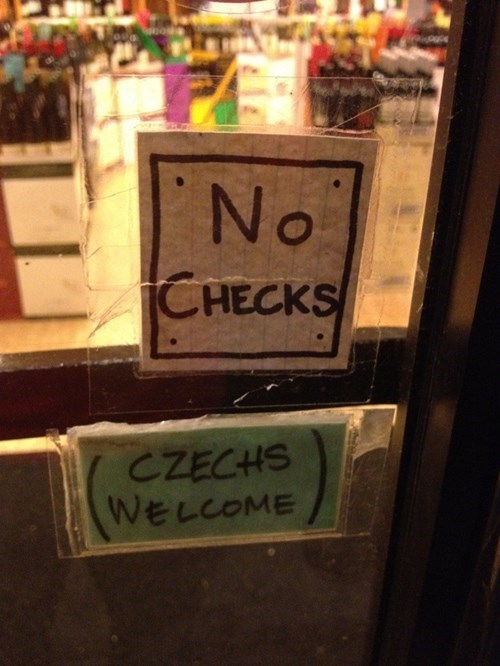 monday thru friday,sign,czech,check,g rated