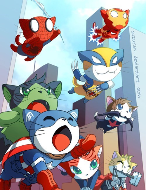 The Avengers cute Cats - 8422507520