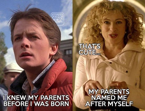 back to the future time travel River Song marty mcfly - 8422543616