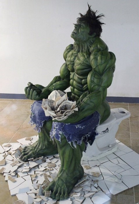bathroom,rough,the incredible hulk