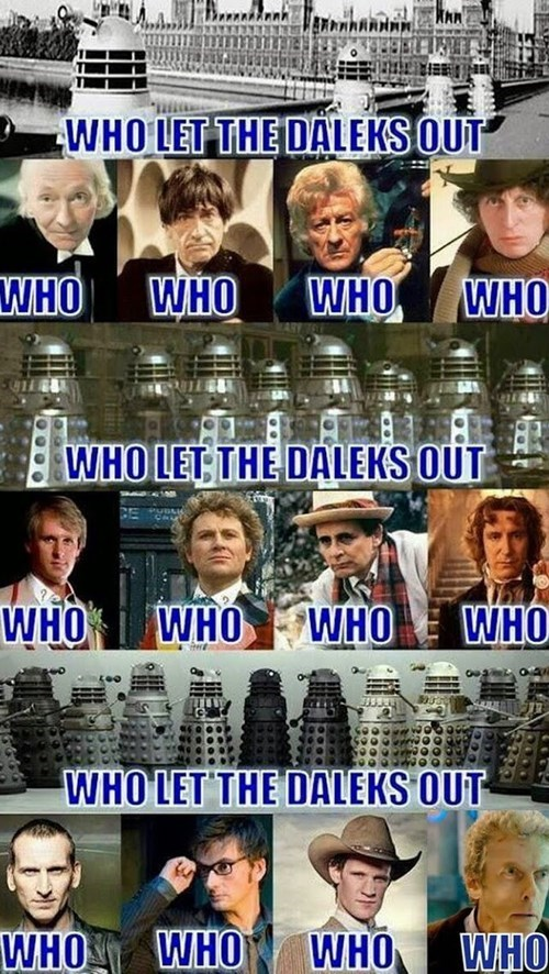 who let the dogs out the doctor daleks - 8422552320