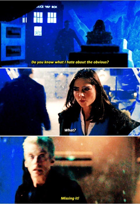 clara oswin oswald 12th Doctor doctor obvious - 8422553344
