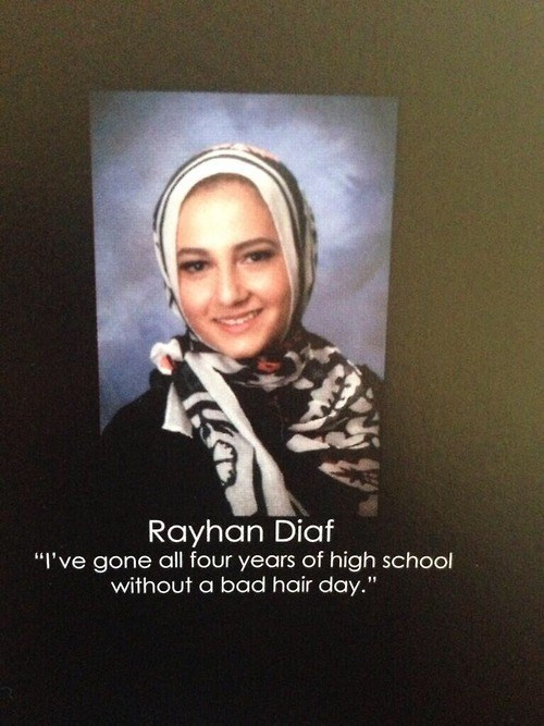 yearbook high school bad hair day quote funny - 8422570240