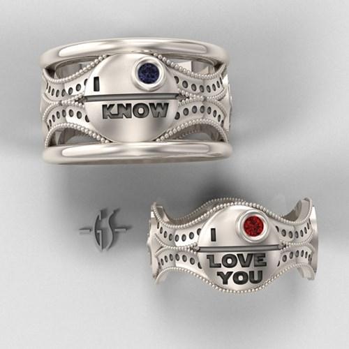 wedding ring star wars Death Star - 8422623744