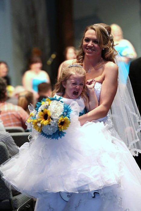 bride flower girl kids parenting tantrum wedding - 8422721536