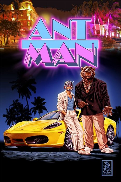 cover art,Straight off the Page,ant man,miami vice