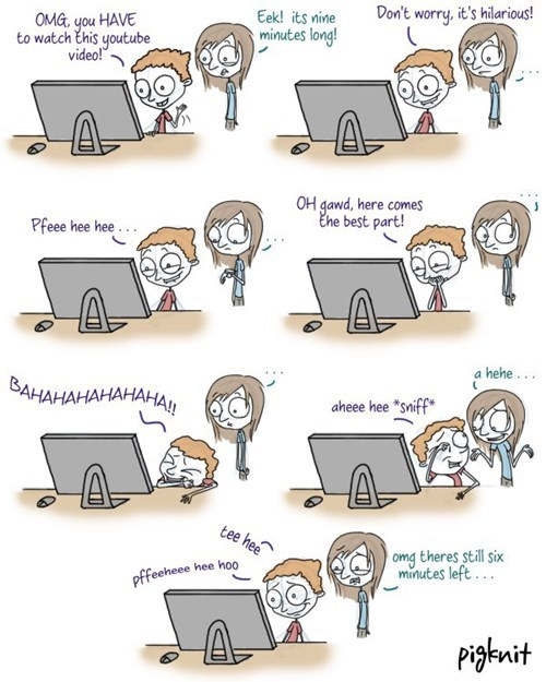 sharing videos web comics