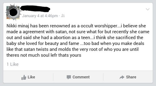 Music,conspiracy,satan,what,nicki minaj,failbook