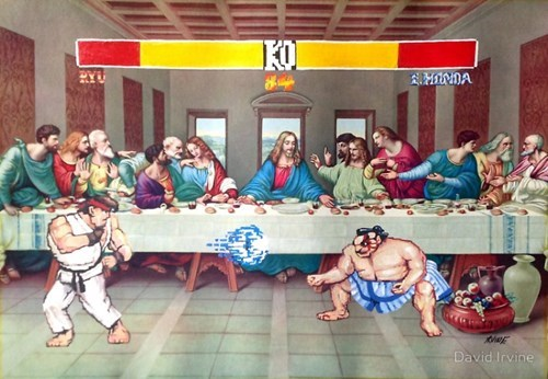 Street fighter hacked irl painting - 8422960896