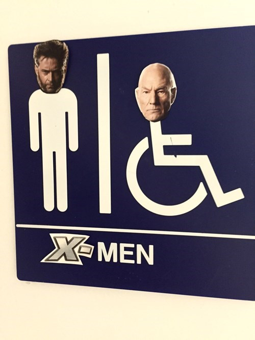 sign x men bathroom hacked irl - 8422963456