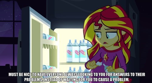 Sad feels rainbow rocks sunset shimmer - 8423660288