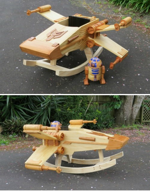 star wars x wing cute rocking chair g rated - 8424292096