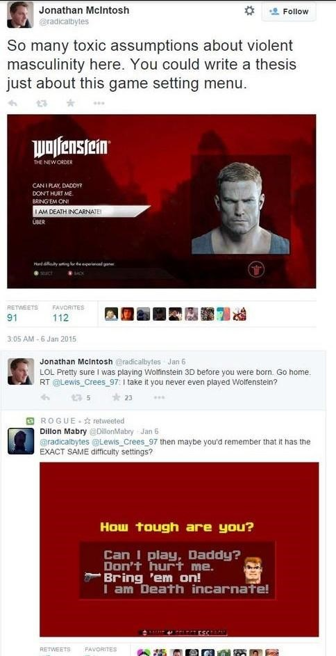 full mcintosh twitter gamergate idiots wolfenstein - 8424354304