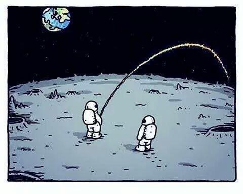 moon pee astronaut funny - 8424505088