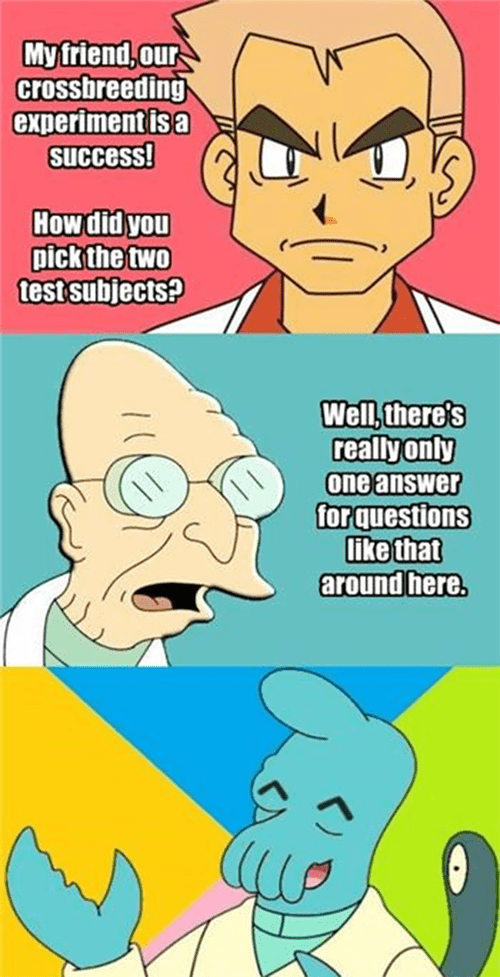 futurama,Pokémon,Zoidberg,wynaut