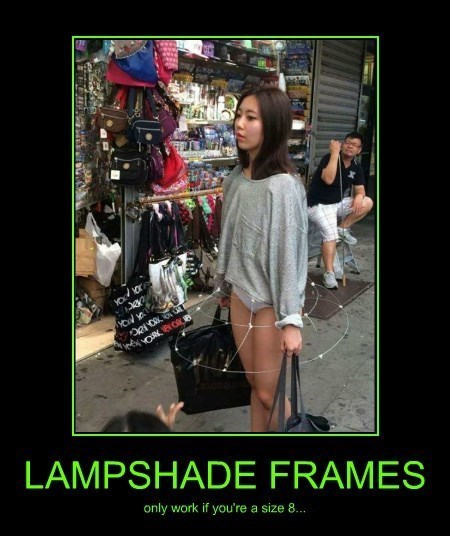 lampshade,wtf,no pants,dress,funny