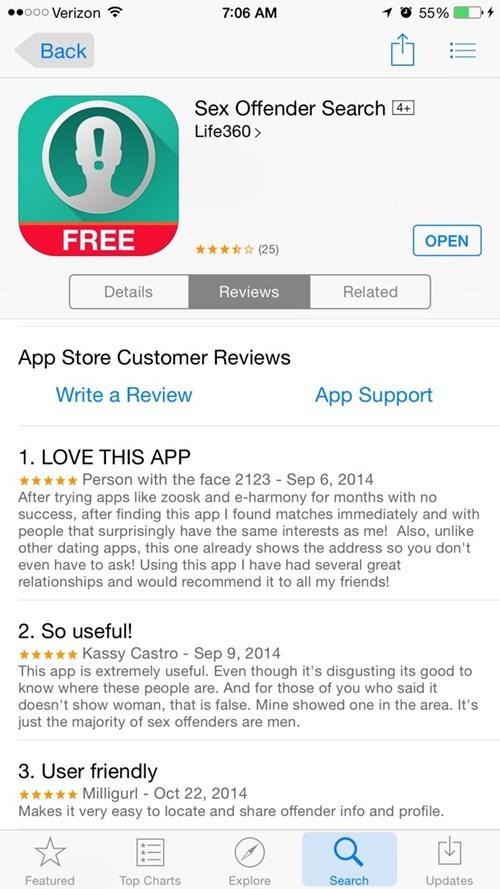 reviews sex offender - 8424905728