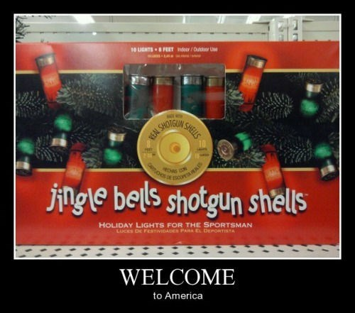 christmas funny shotgun welcome