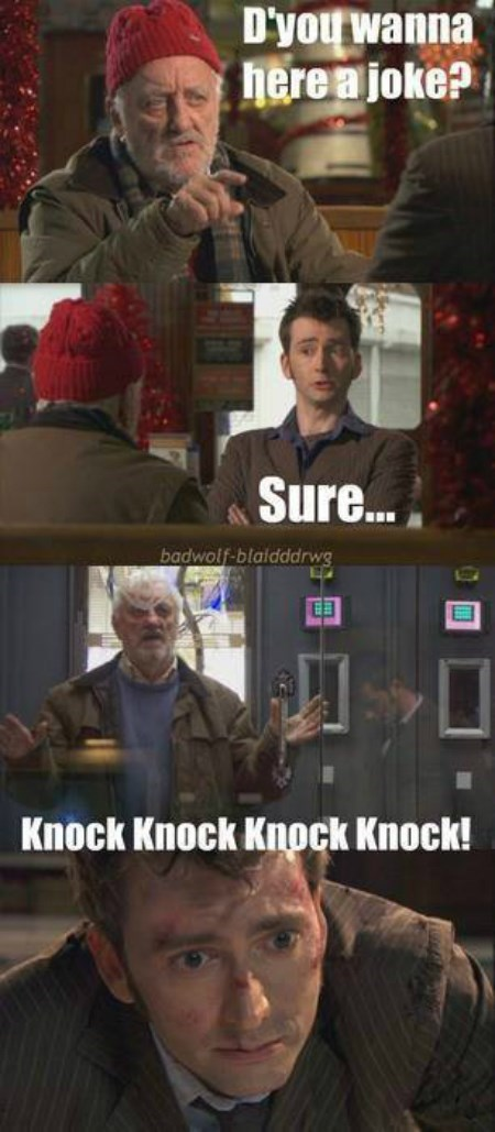 knock knock,10th doctor,wilf,regeneration