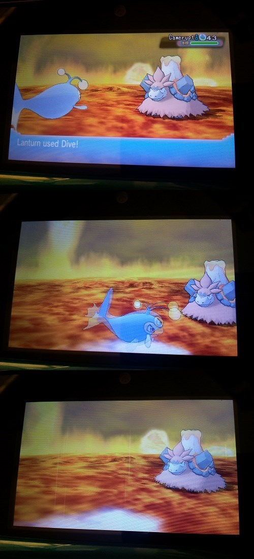 Pokémon,dive,lanturn,lava