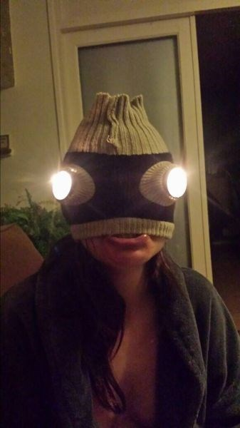 poorly dressed mask flashlight - 8425225472