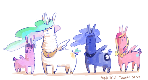 alicorns alpacas Fan Art - 8425332736