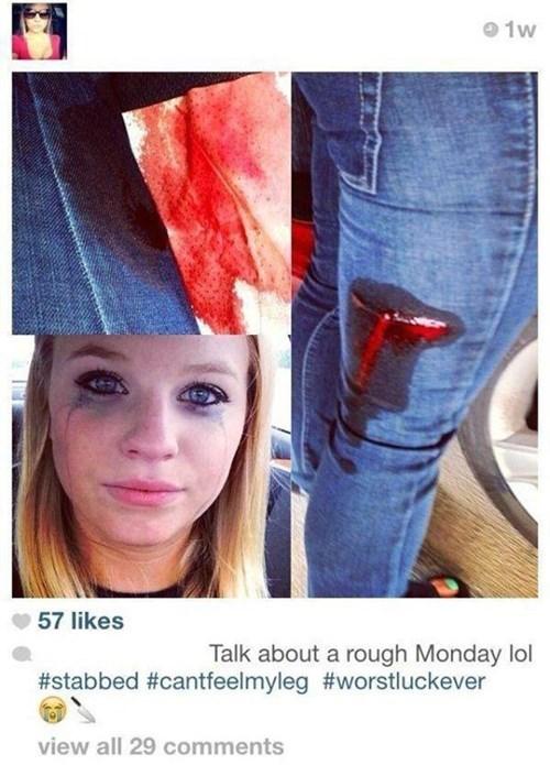 stabbed instagram selfie - 8425394688