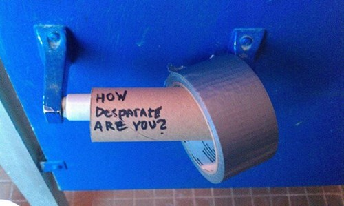 toilet paper,duct tape