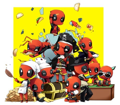deadpool,Party,chibi