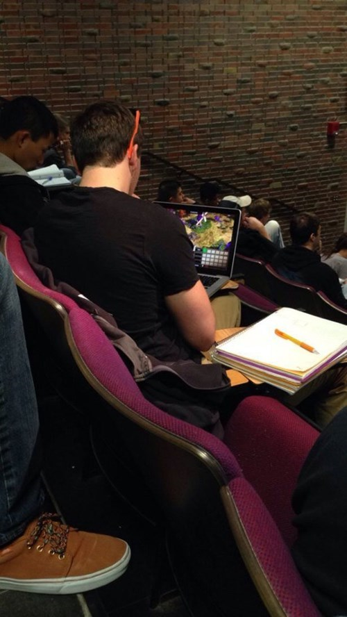studying,class,video games