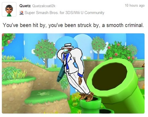 Miiverse,samus,michael jackson,smooth criminal